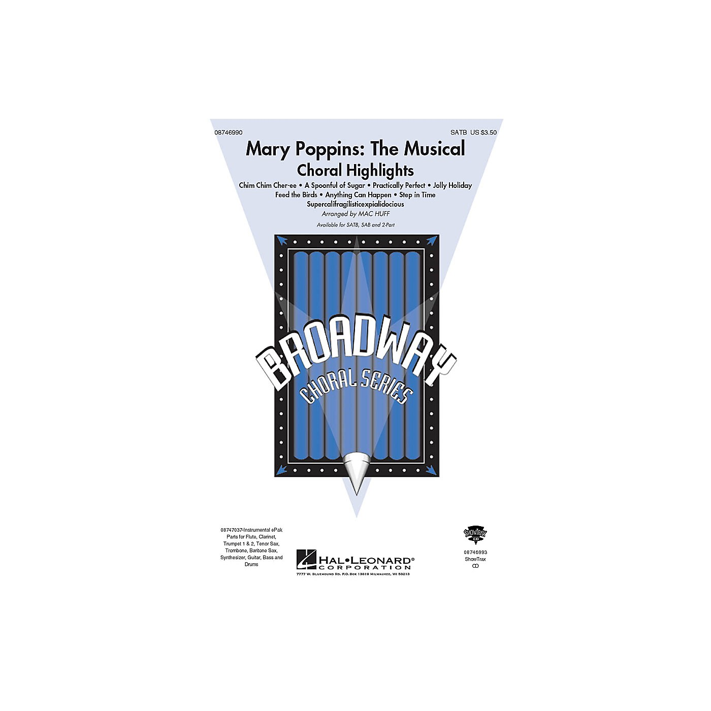 Hal Leonard Mary Poppins: The Musical (Choral Highlights) SATB arranged by Mac Huff thumbnail