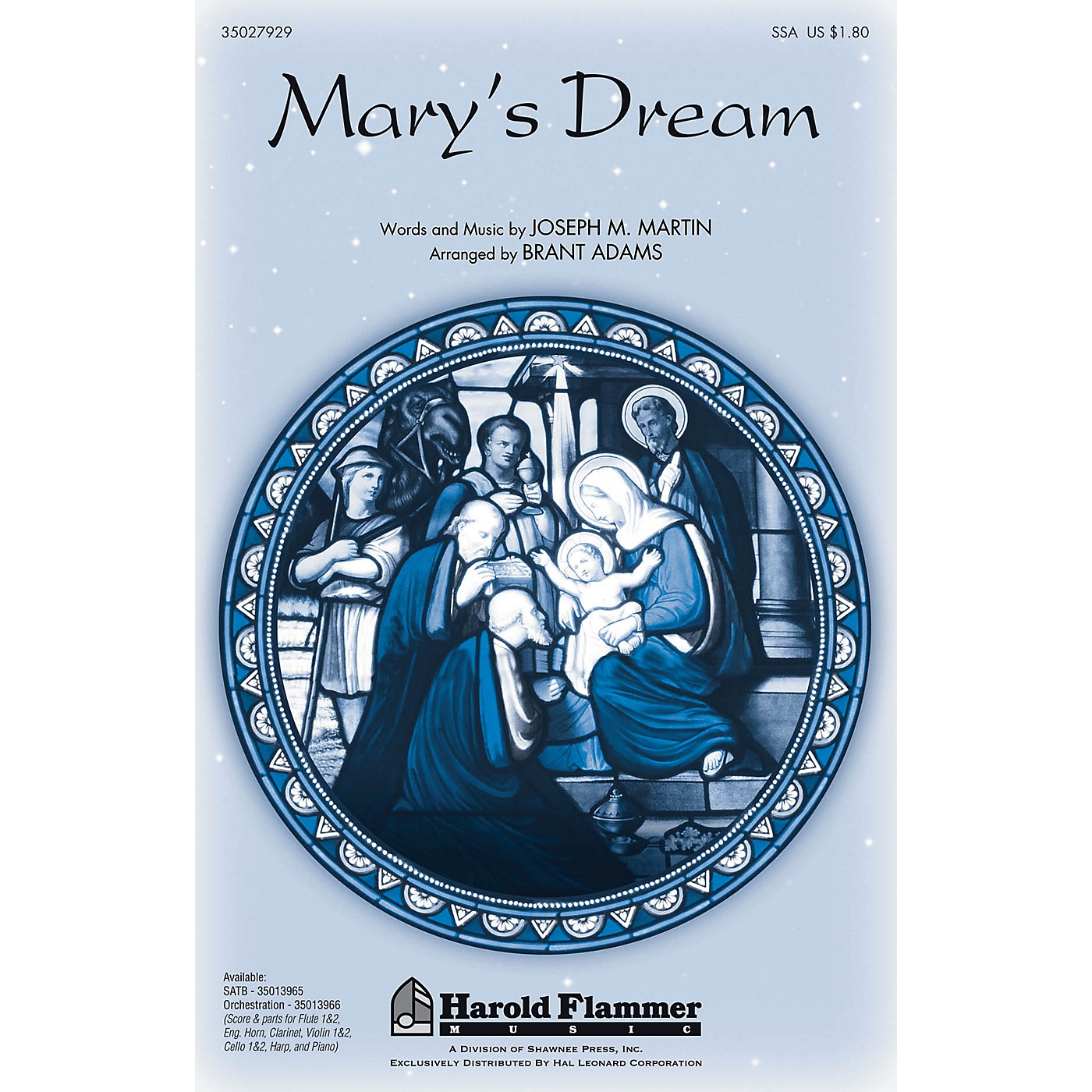 Shawnee Press Mary's Dream SSA arranged by Brant Adams thumbnail