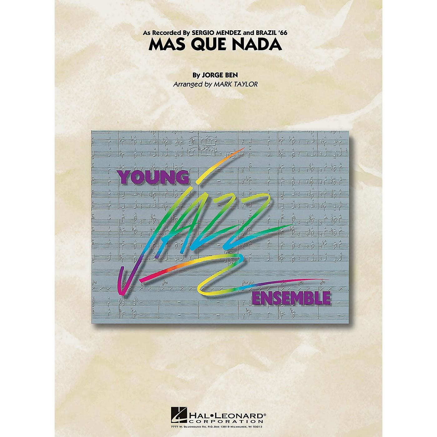 Hal Leonard Mas Que Nada Jazz Band Level 3 by Sergio Mendez Arranged by Mark Taylor thumbnail