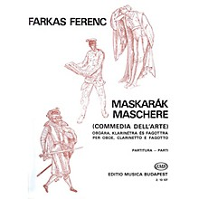 Editio Musica Budapest Mascarade for Oboe, Clarinet and Bassoon EMB Series by Ferenc Farkas