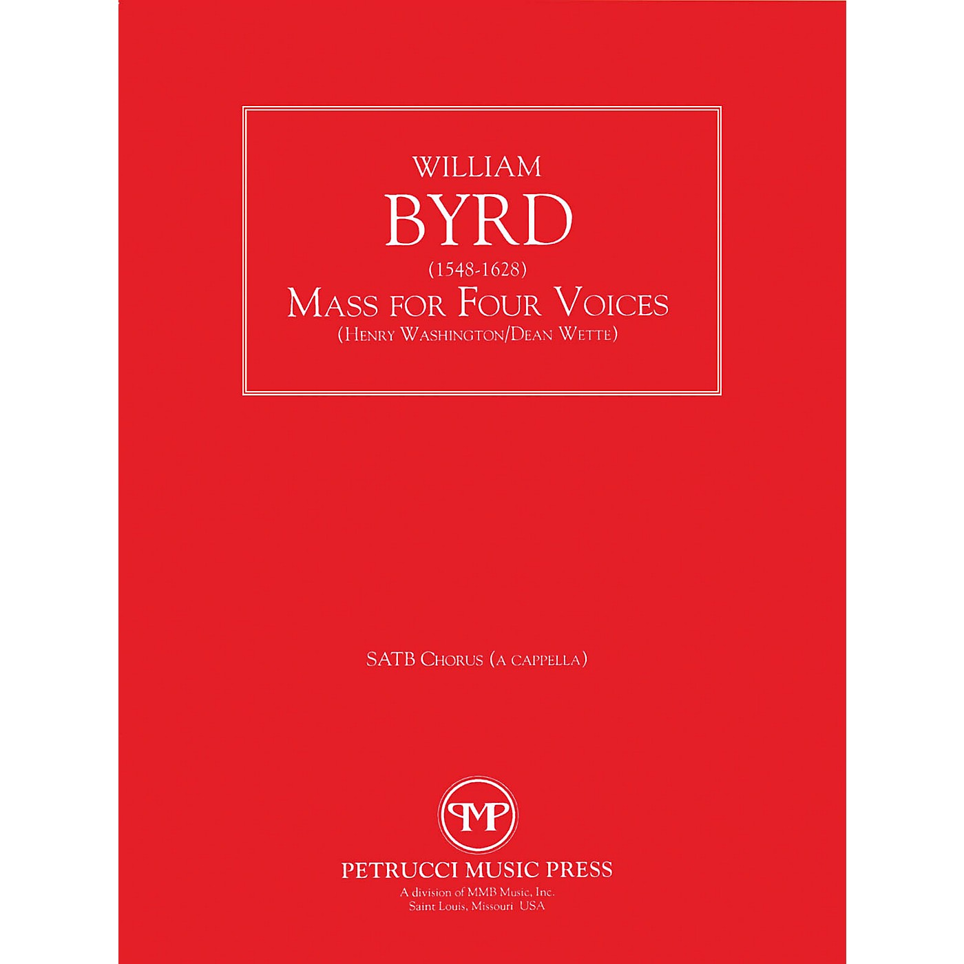 Lauren Keiser Music Publishing Mass for Four Voices SATB Composed by William Byrd thumbnail