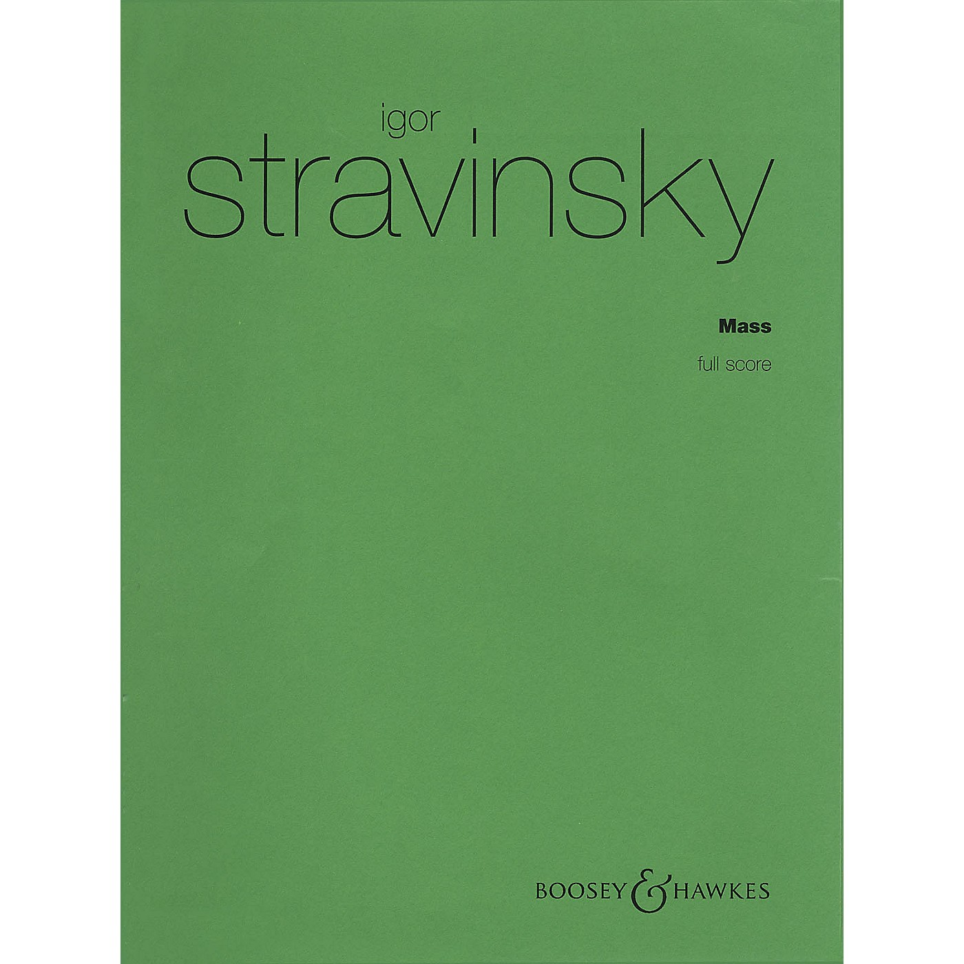 Boosey and Hawkes Mass (for Mixed Chorus and Double Wind Quintet) Score Composed by Igor Stravinsky thumbnail