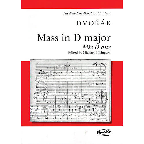 Novello Mass in D Major, Op. 86 (Mse D dur) (Vocal Score) SATB Composed by Antonín Dvorák thumbnail