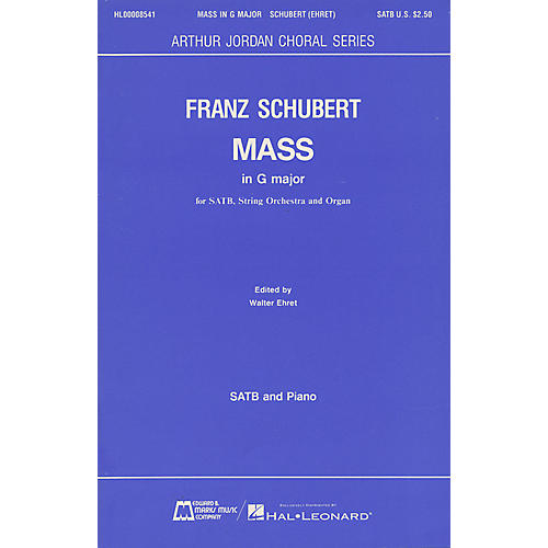 Edward B. Marks Music Company Mass in G Major SATB composed by Franz Schubert thumbnail