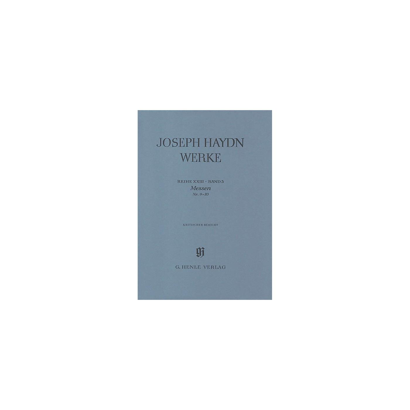 G. Henle Verlag Masses No 9 - 10series Xxiii Volume 3 Henle Edition Series Hardcover thumbnail