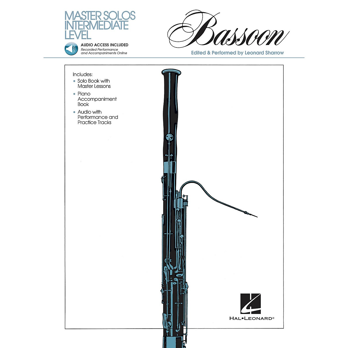 Hal Leonard Master Solos Intermediate Level - Bassoon (Book/CD Pack) Master Solos Series Softcover with CD thumbnail