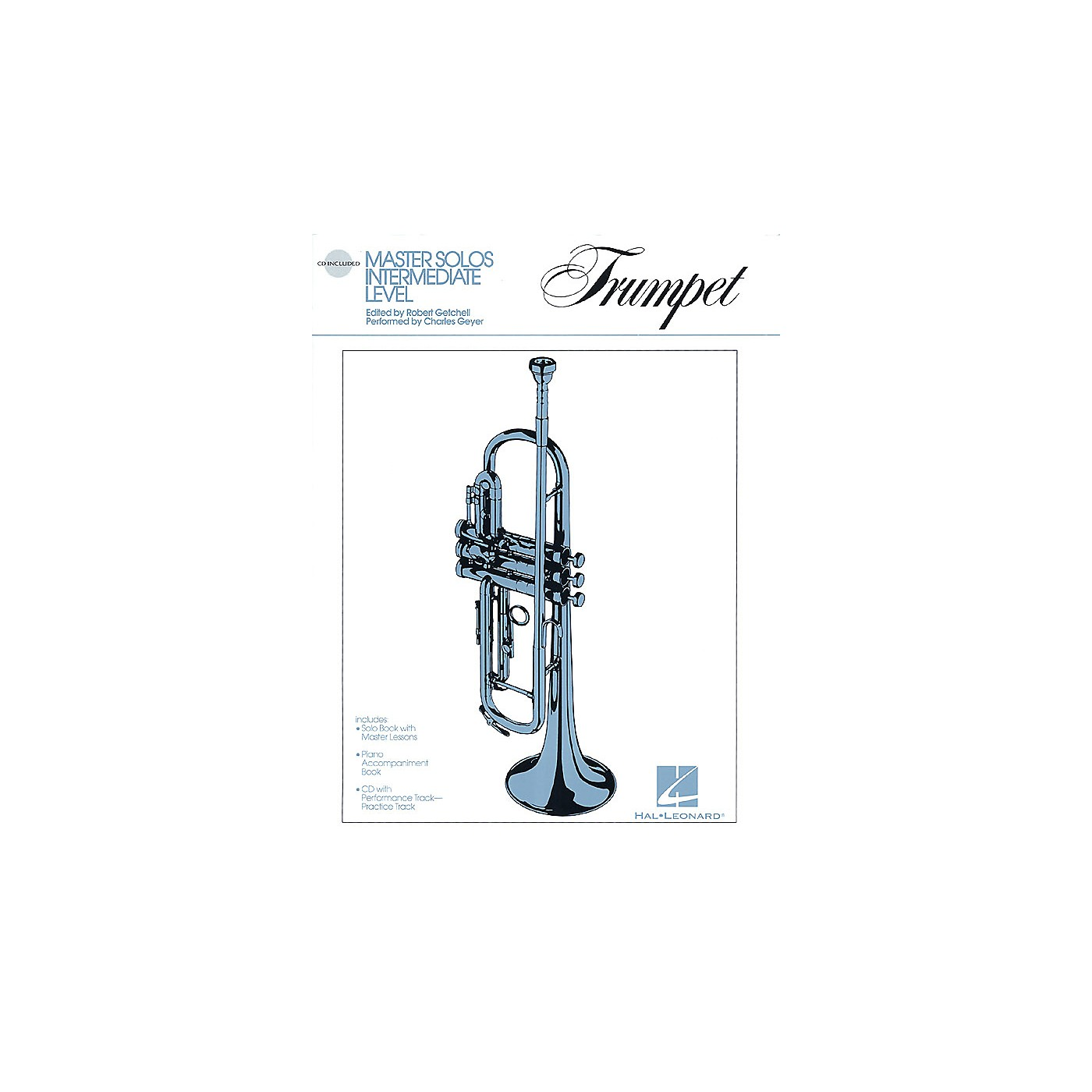 Hal Leonard Master Solos Intermediate Level - Trumpet (Book/CD Pack) Master Solos Series Softcover with CD thumbnail