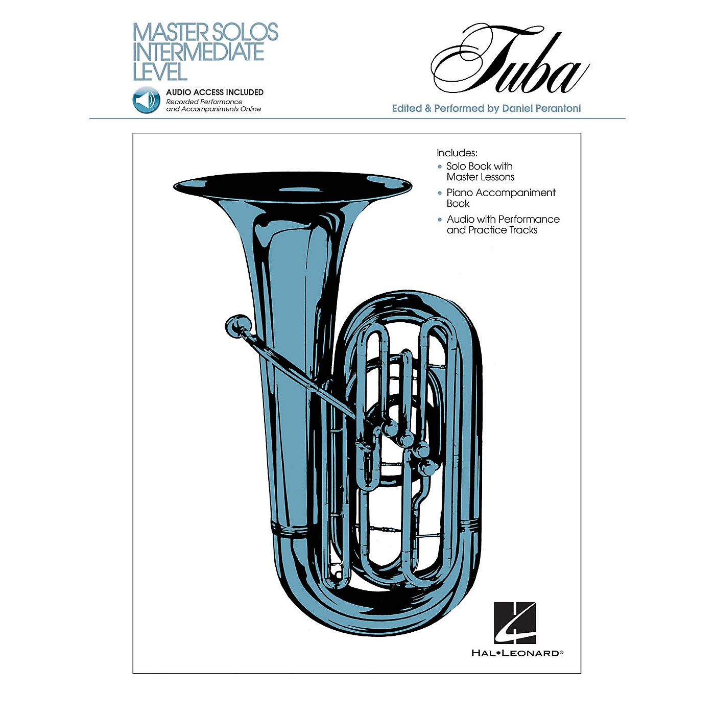 Hal Leonard Master Solos Intermediate Level - Tuba (B.C.) (Book/CD Pack) Master Solos Series Softcover with CD thumbnail