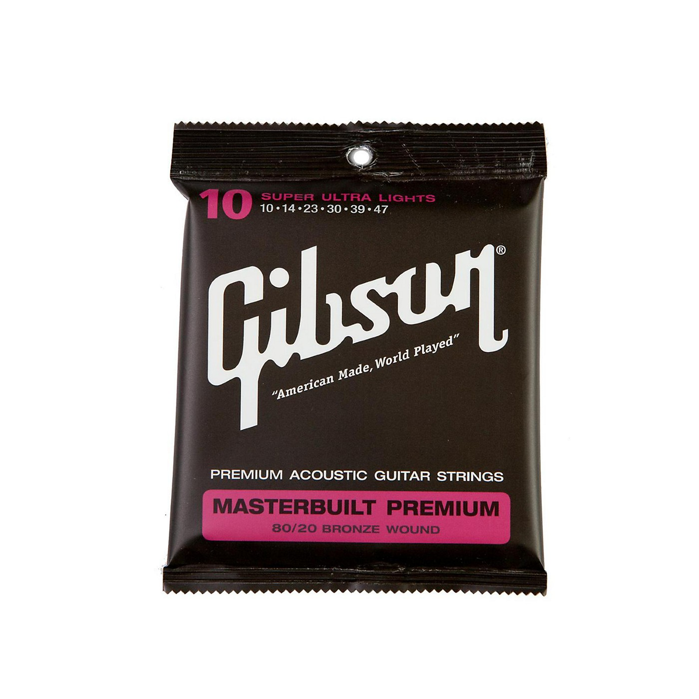 Gibson Masterbuilt Premium 80/20 Bronze Super Ultra Light Acoustic Guitar Strings thumbnail