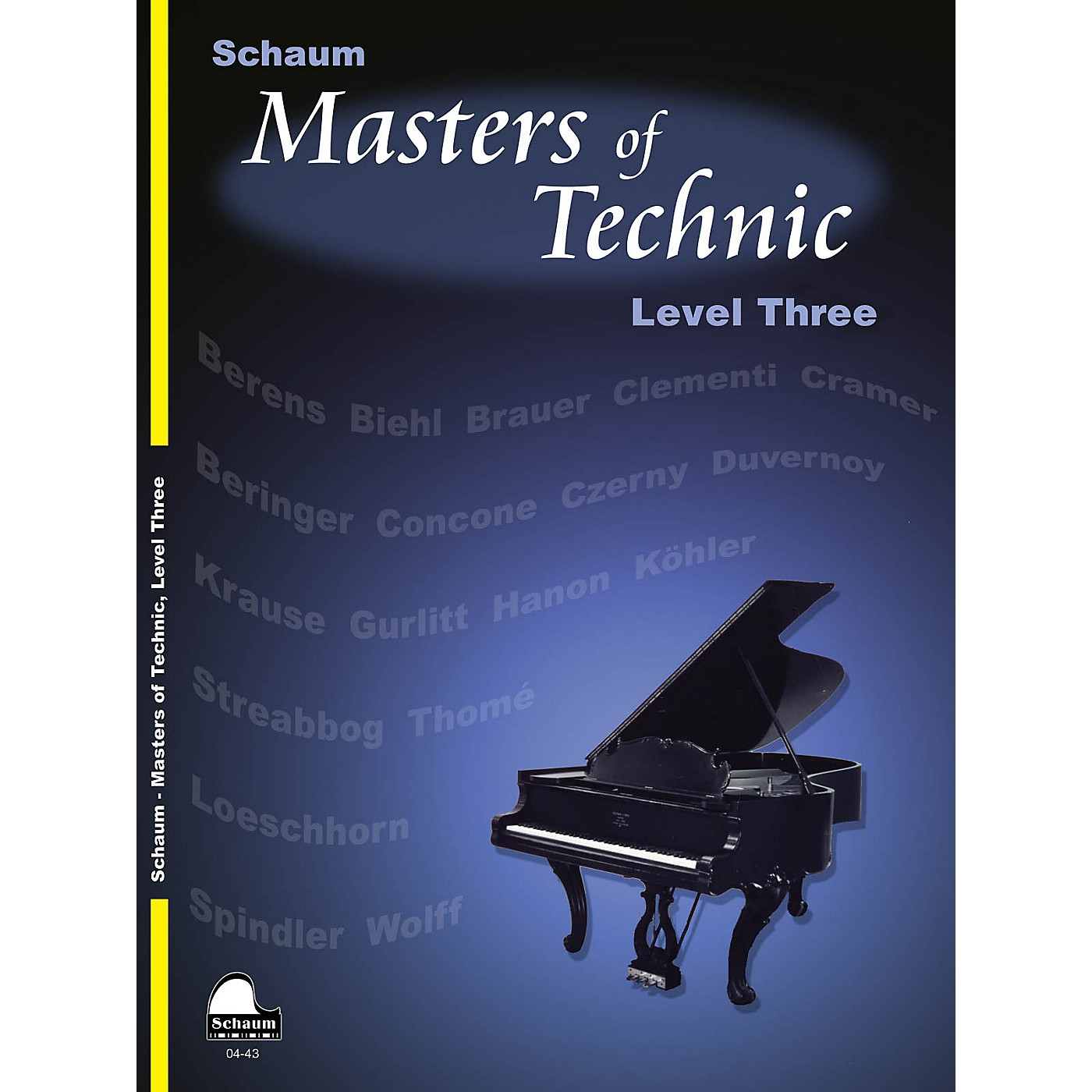 SCHAUM Masters Of Technic, Lev 3 Educational Piano Series Softcover thumbnail