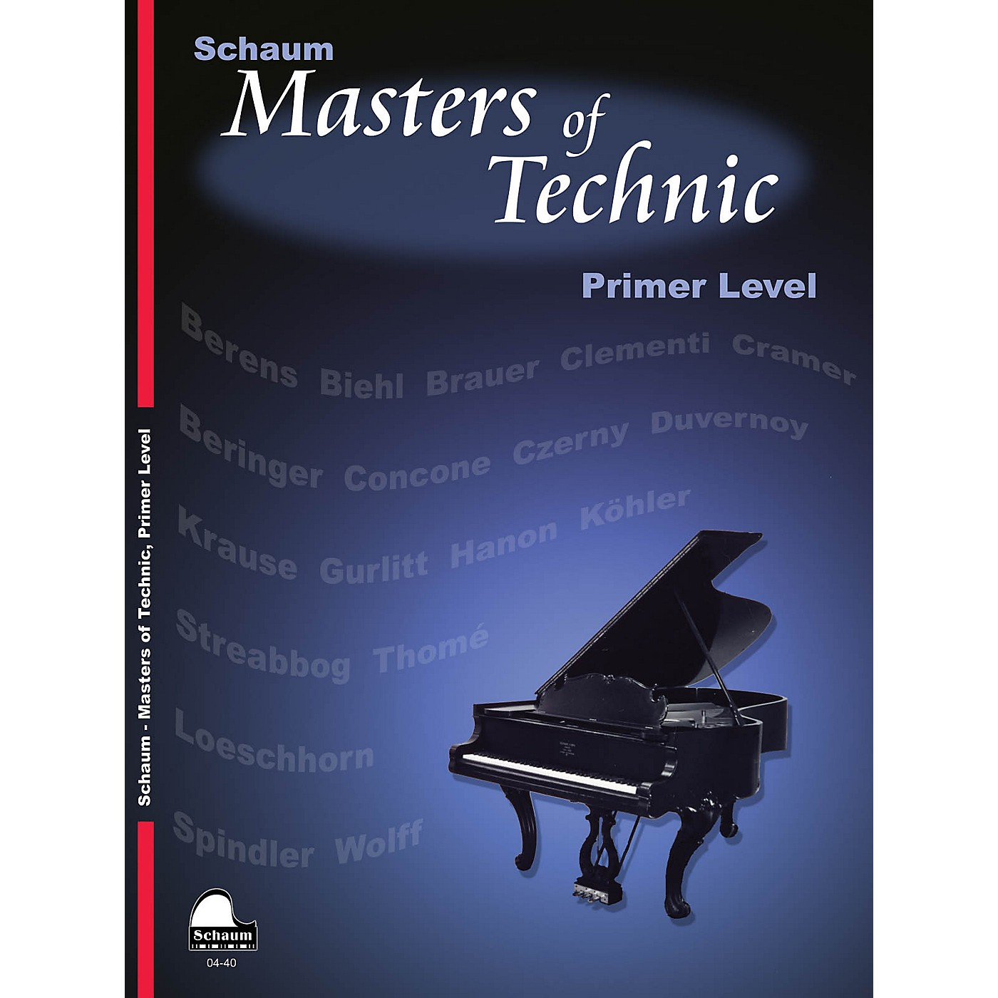 SCHAUM Masters Of Technic, Primer Educational Piano Series Softcover thumbnail