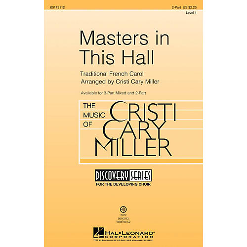 Hal Leonard Masters in This Hall (Discovery Level 1) 2-Part arranged by Cristi Cary Miller thumbnail