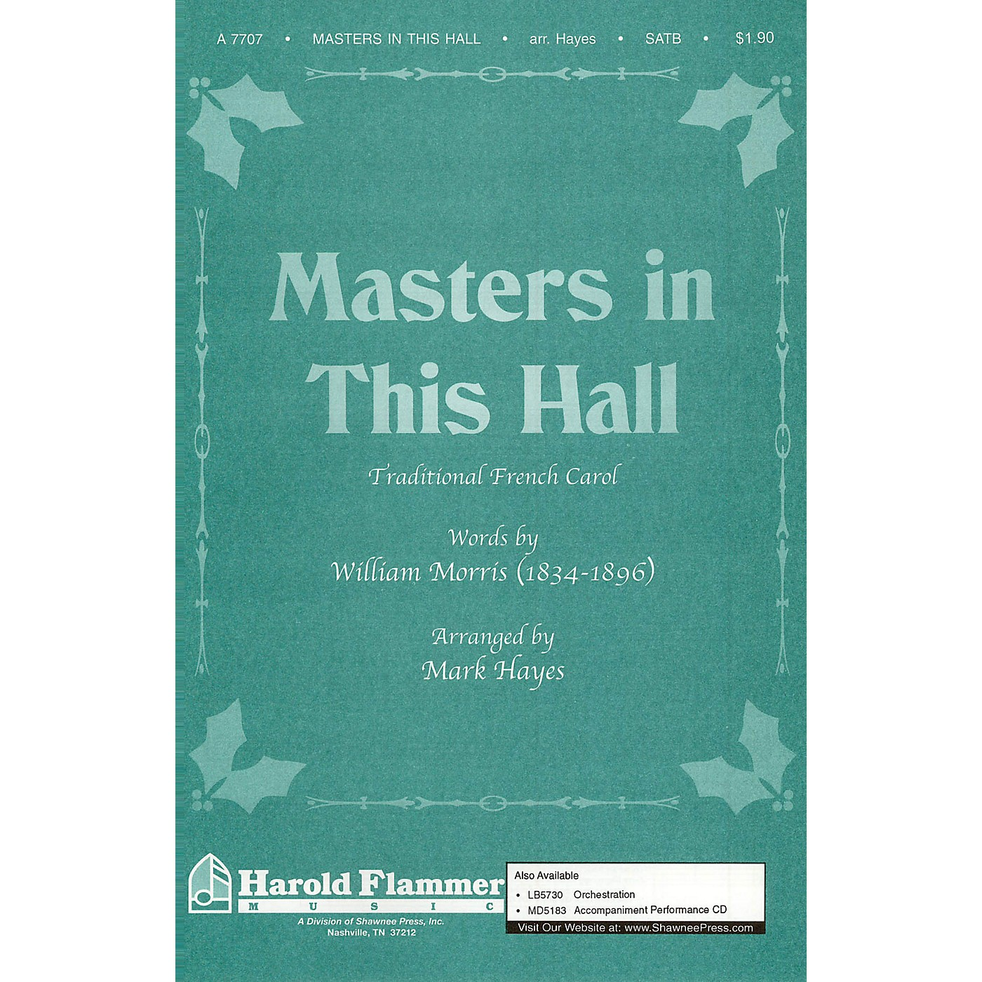 Shawnee Press Masters in This Hall SATB arranged by Mark Hayes thumbnail