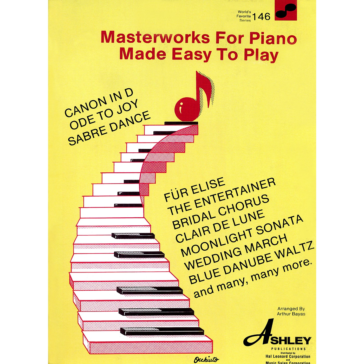 Hal Leonard Masterworks For The Piano Made Easy To Play 146 Worlds Favorite thumbnail