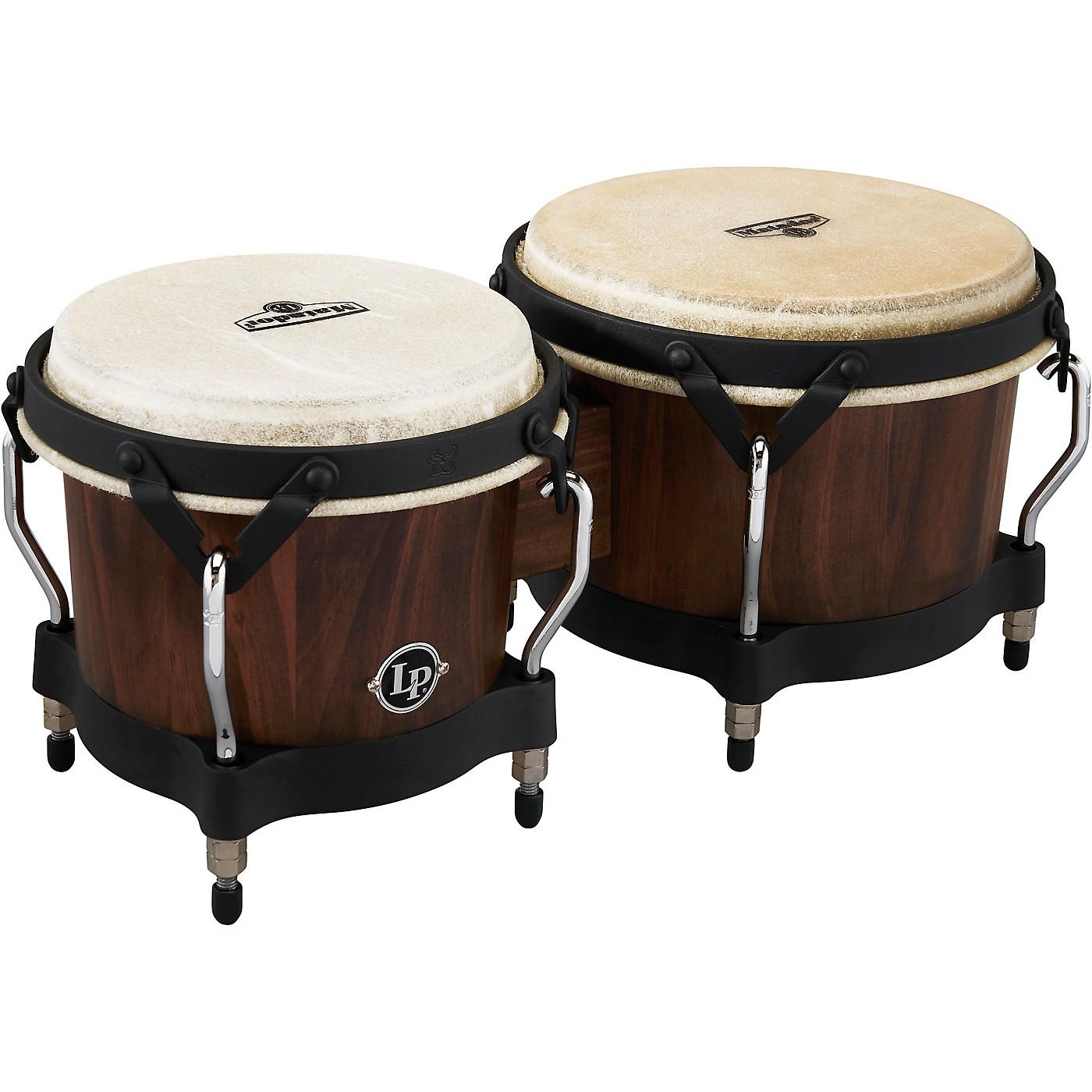 LP Matador Pine Whiskey Barrel Bongos, with Black Hardware thumbnail