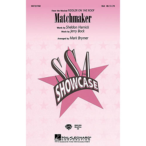 Hal Leonard Matchmaker (from Fiddler On The Roof) ShowTrax CD Arranged by Mark Brymer thumbnail