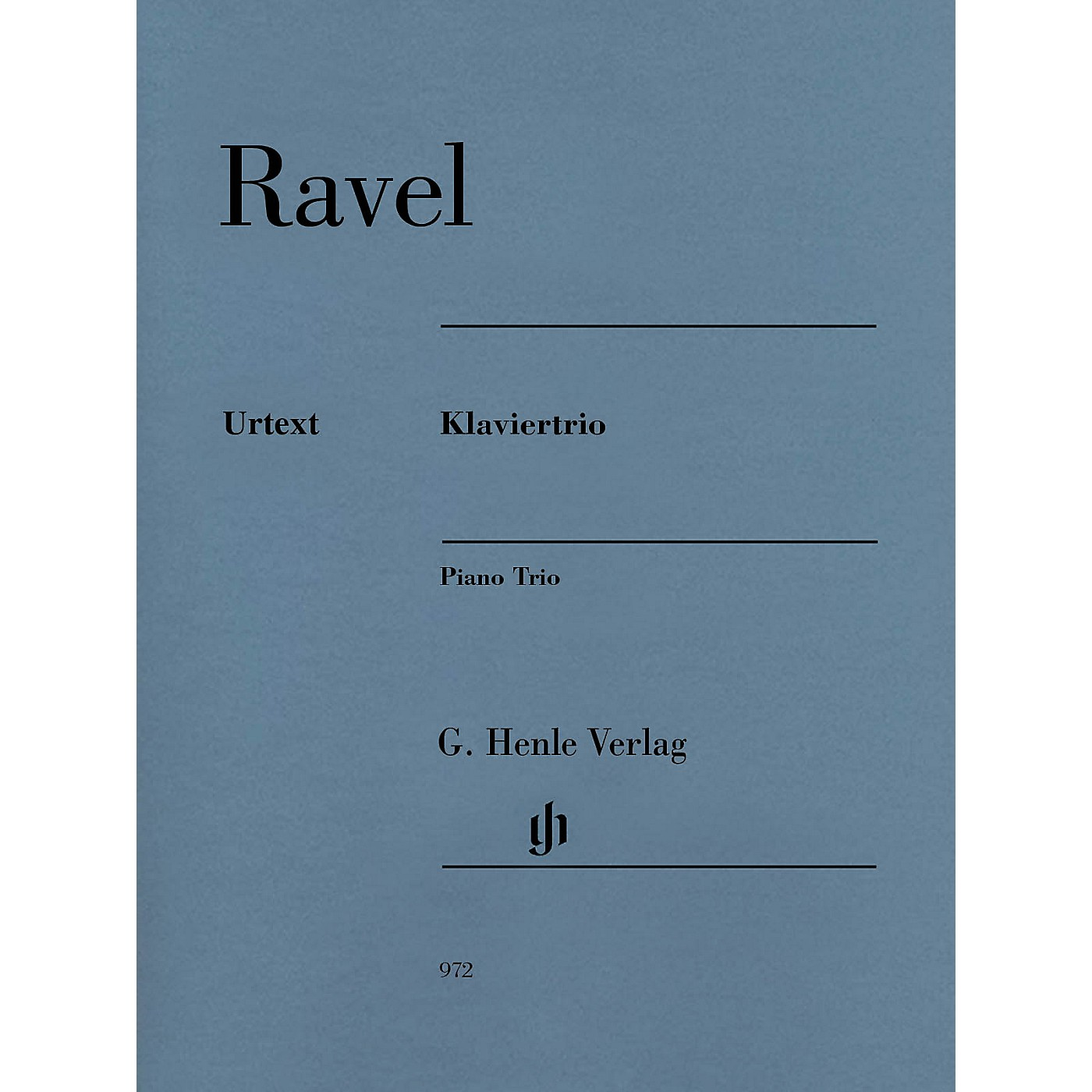 G. Henle Verlag Maurice Ravel - Piano Trio Henle Music Folios Softcover Composed by Maurice Ravel Edited by Peter Jost thumbnail