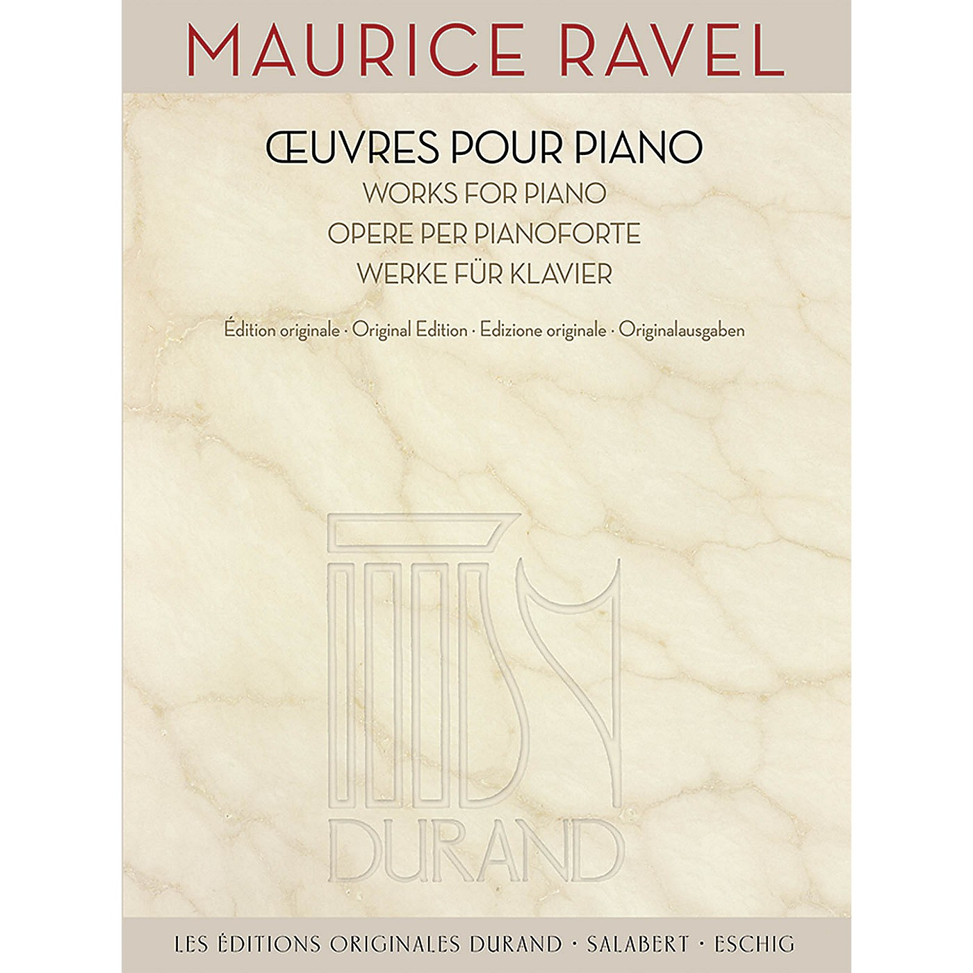 Durand Maurice Ravel - Works for Piano Editions Durand Series Softcover thumbnail