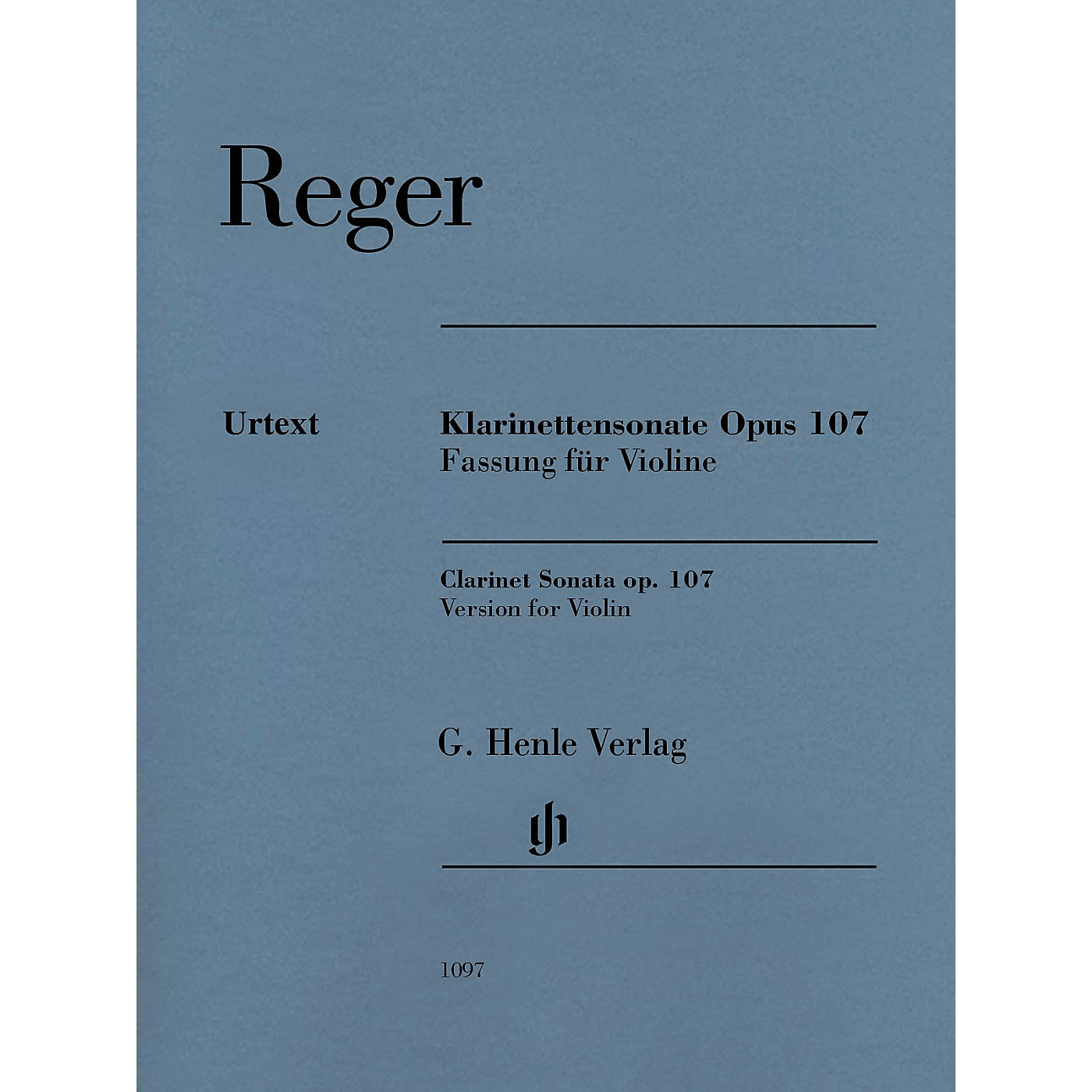G. Henle Verlag Max Reger - Clarinet Sonata, Op. 107 Henle Music Folios Softcover Composed by Max Reger Edited by Michael Kube thumbnail