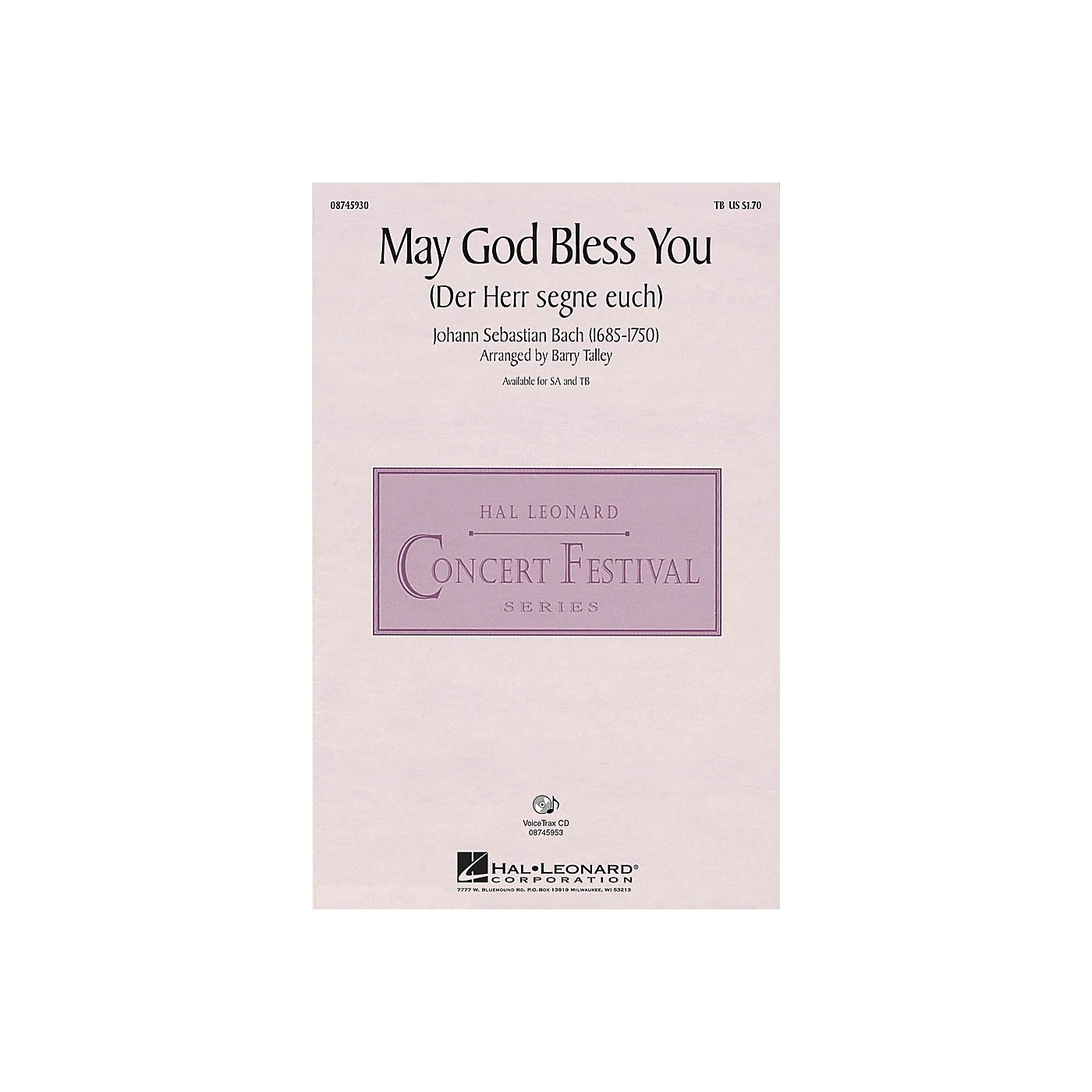 Hal Leonard May God Bless You (Der Herr segne euch) TB arranged by Barry Talley thumbnail