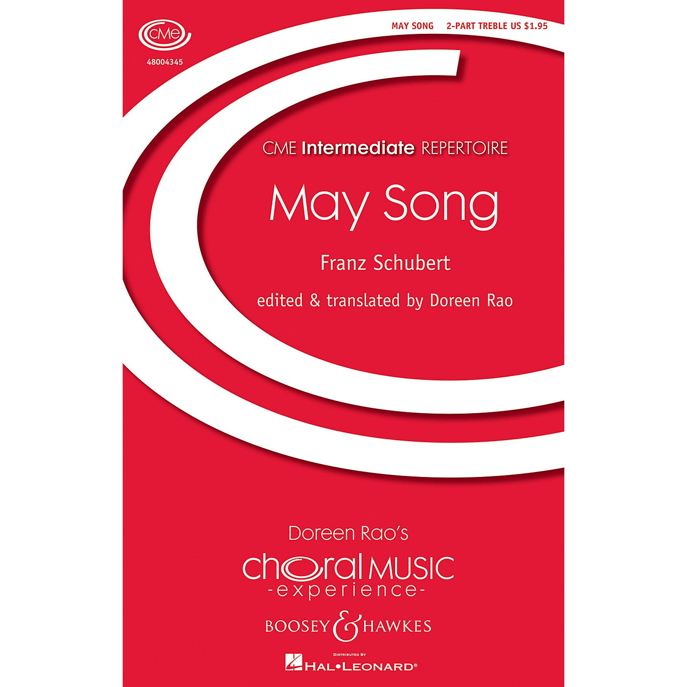 Boosey and Hawkes May Song (CME Intermediate) 2-Part a cappella composed by Franz Schubert arranged by Doreen Rao thumbnail