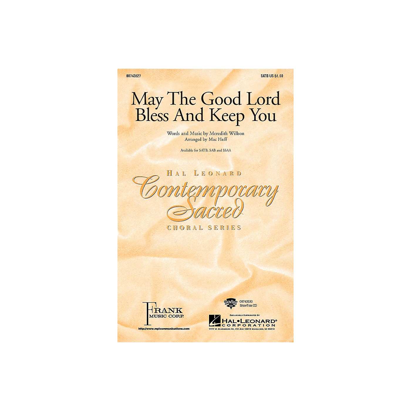 Hal Leonard May the Good Lord Bless and Keep You SSAA Arranged by Mac Huff thumbnail