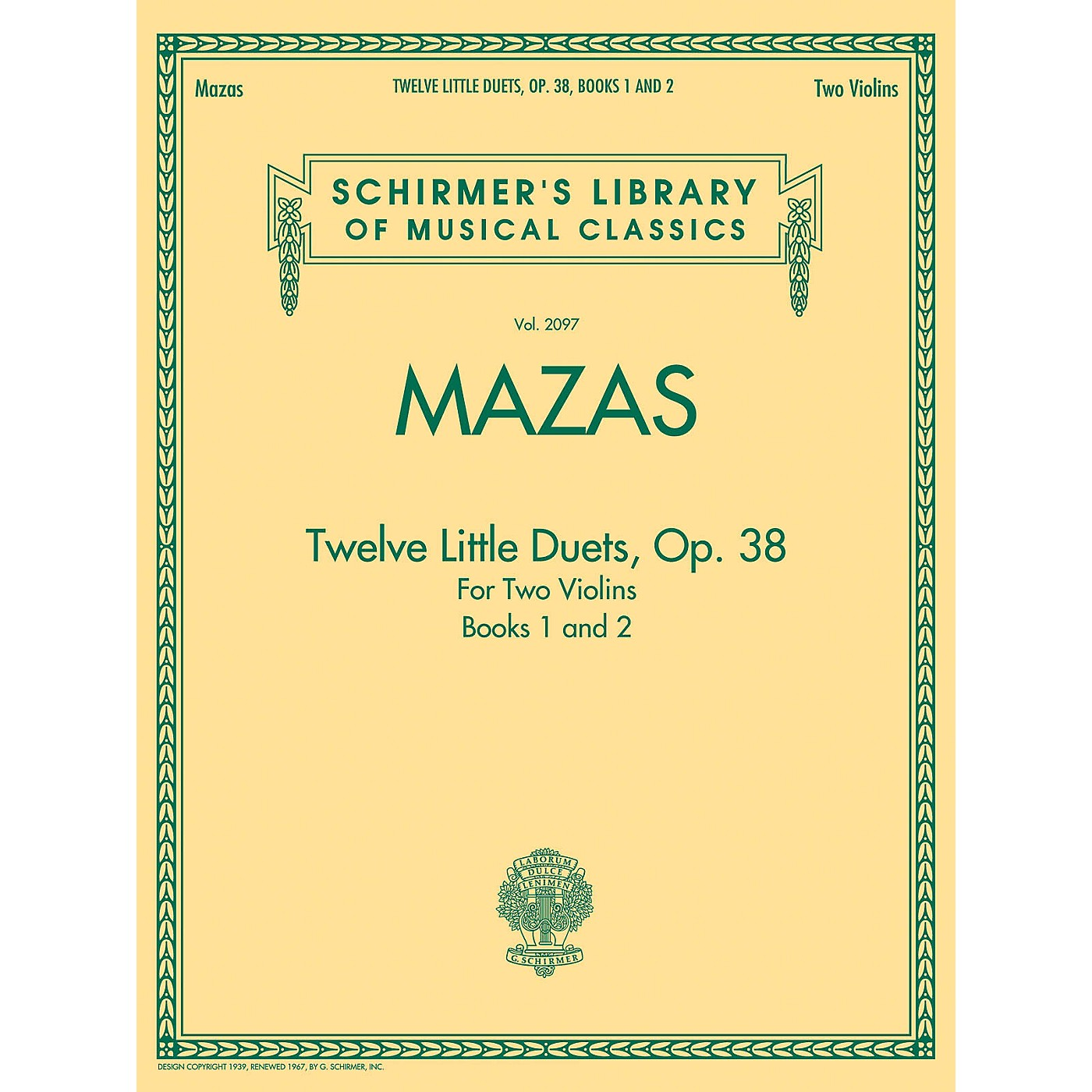 G. Schirmer Mazas - Twelve Little Duets for Two Violins, Op. 38, Books 1 & 2 String Method by Jacques F. Mazas thumbnail