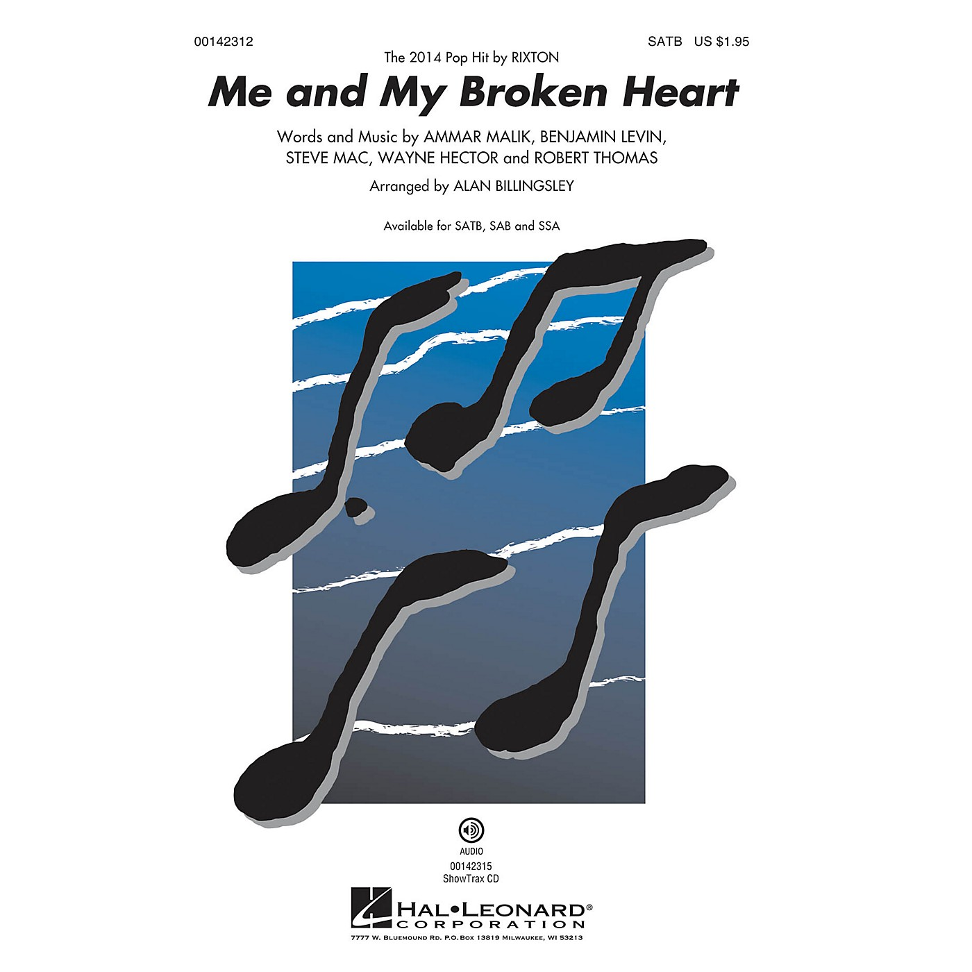 Hal Leonard Me and My Broken Heart SSA by Rixton Arranged by Alan Billingsley thumbnail