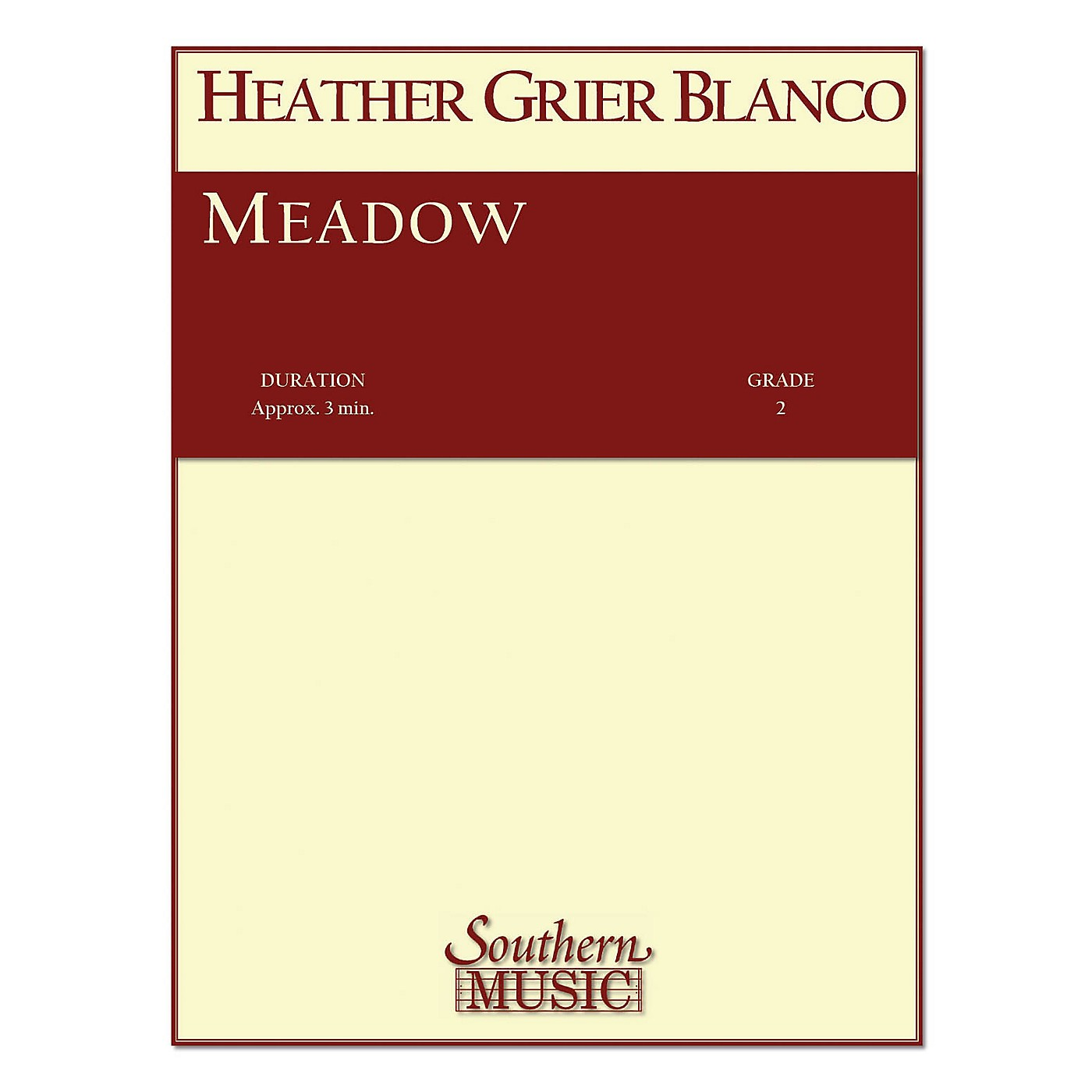 Southern Meadow (String Orchestra Music/String Orchestra) Southern Music Series Composed by Heather Blanco thumbnail