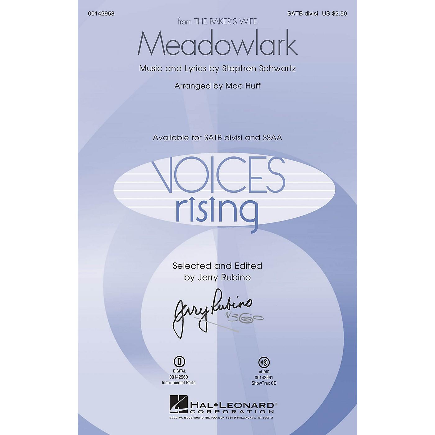 Hal Leonard Meadowlark (from The Baker's Wife) ShowTrax CD Arranged by Mac Huff thumbnail