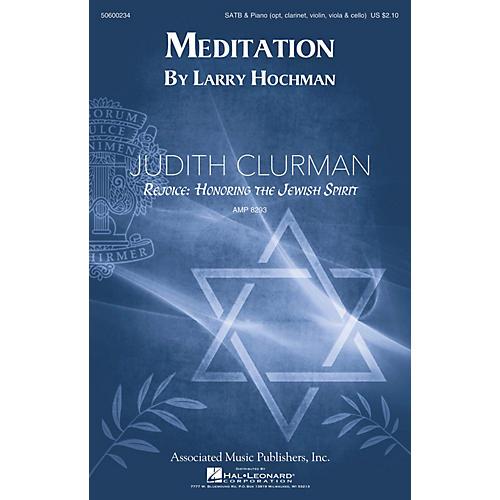 G. Schirmer Meditation (Judith Clurman Rejoice: Honoring the Jewish Spirit Choral Series) SATB by Larry Hochman thumbnail