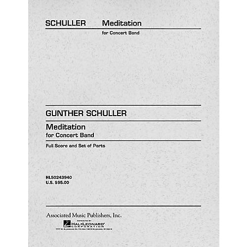 Associated Meditation for Concert Band (Score and Parts) Concert Band Level 4-5 Composed by Gunther Schuller thumbnail