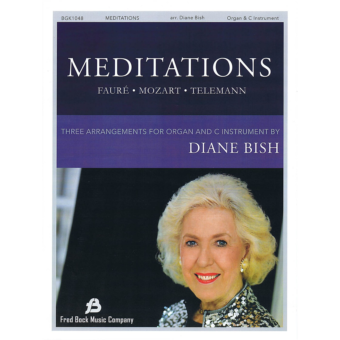 Fred Bock Music Meditations - Three Pieces for Organ and Solo C Instrument arranged by Diane Bish thumbnail