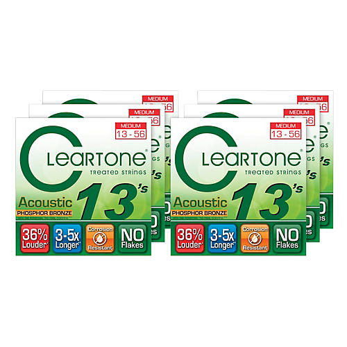 Cleartone Medium Acoustic Guitar Strings 6 Pack thumbnail