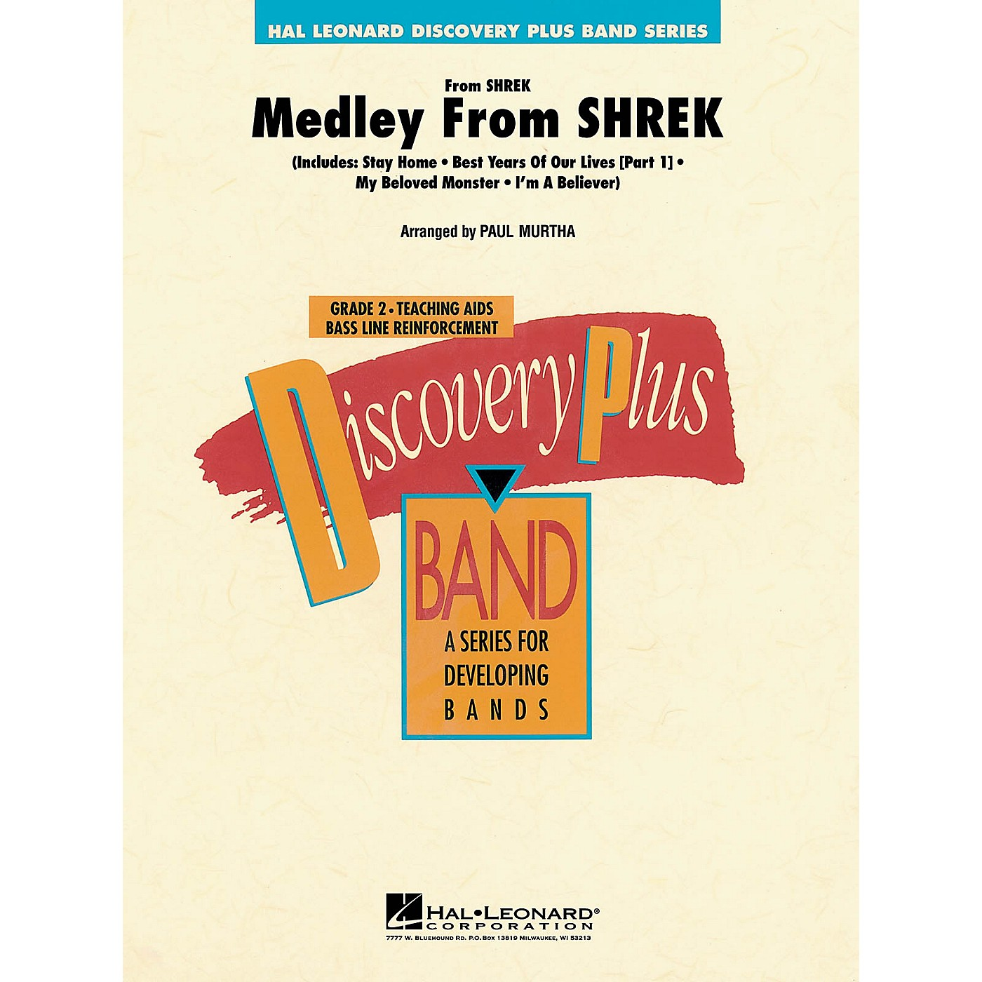 Hal Leonard Medley from Shrek - Discovery Plus Concert Band Series Level 2 arranged by Paul Murtha thumbnail