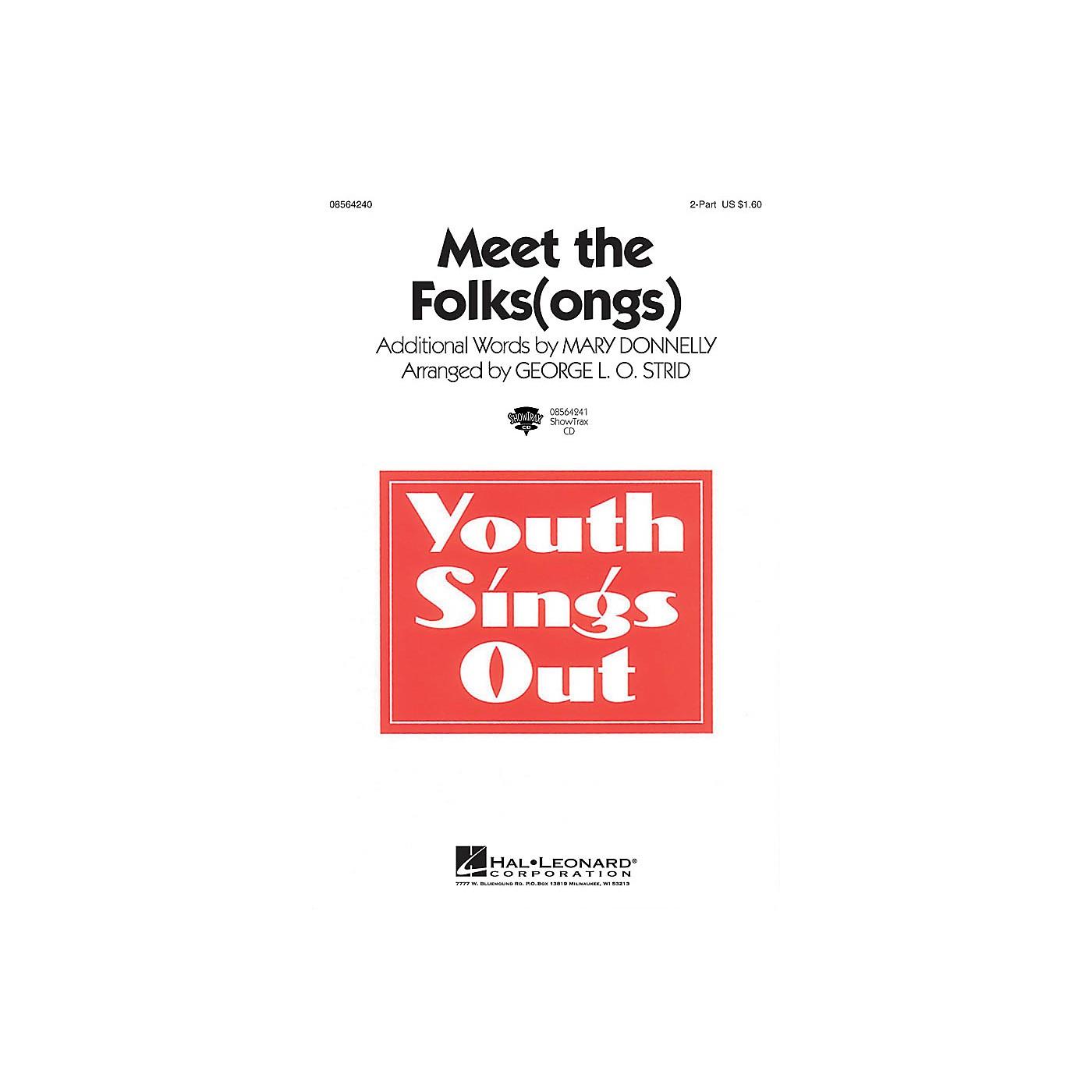 Hal Leonard Meet the Folks(ongs) ShowTrax CD Arranged by George L.O. Strid thumbnail