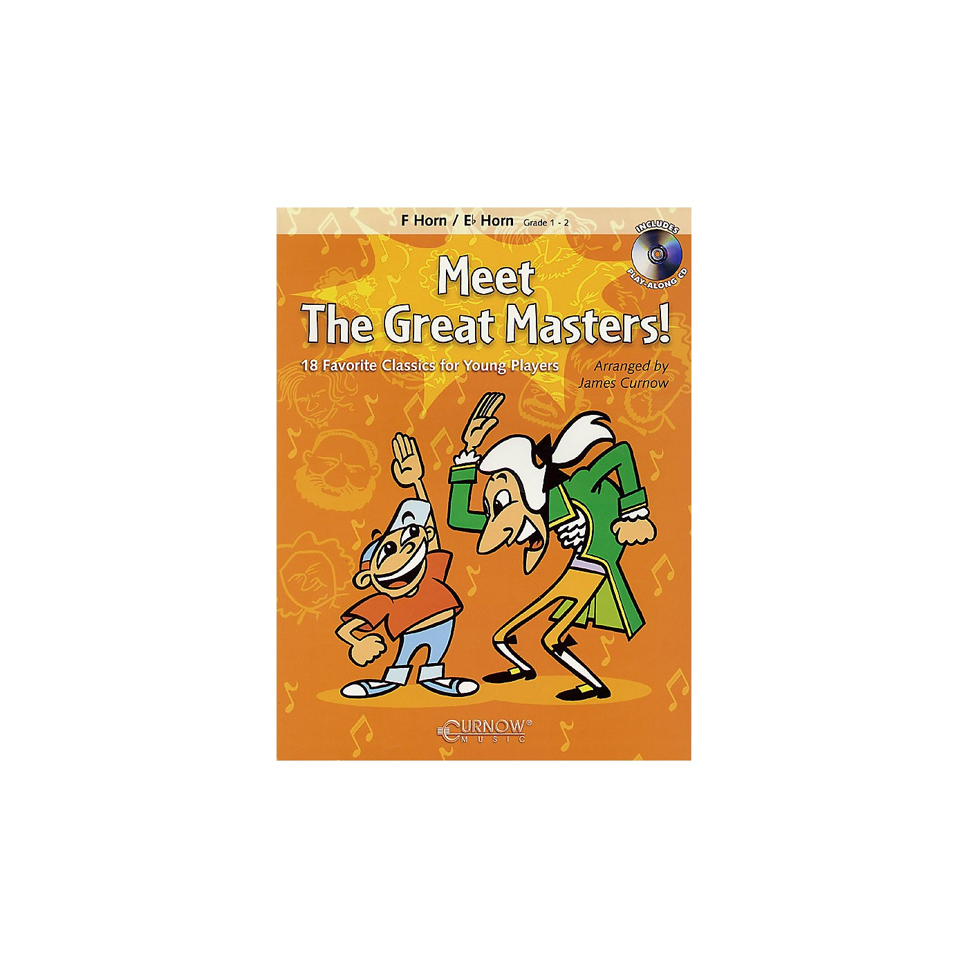 Curnow Music Meet the Great Masters! (F/Eb Horn - Grade 1-2) Concert Band Level 1-2 thumbnail