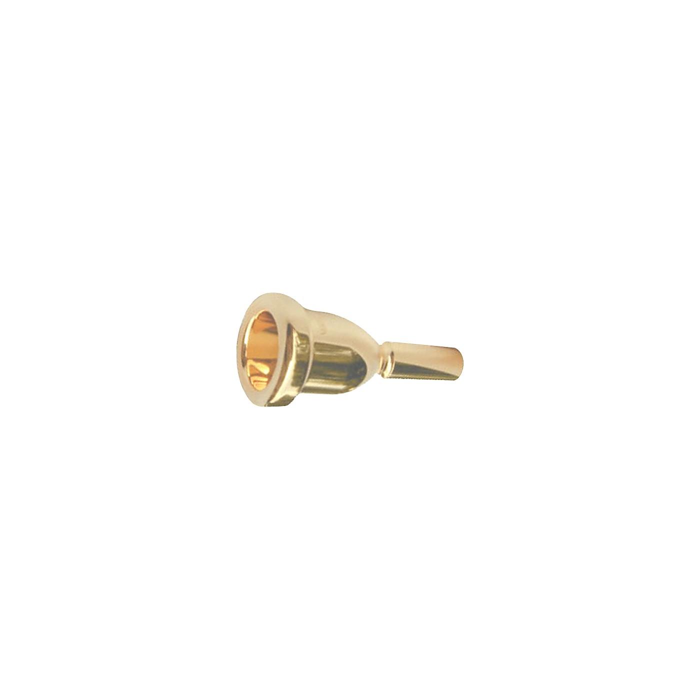 Bach Mega Tone Large Shank Trombone Mouthpiece in Gold thumbnail