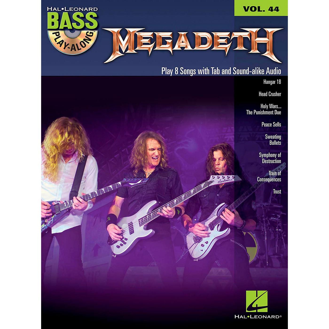 Hal Leonard Megadeth - Bass Play-Along Volume 44 Book/CD thumbnail