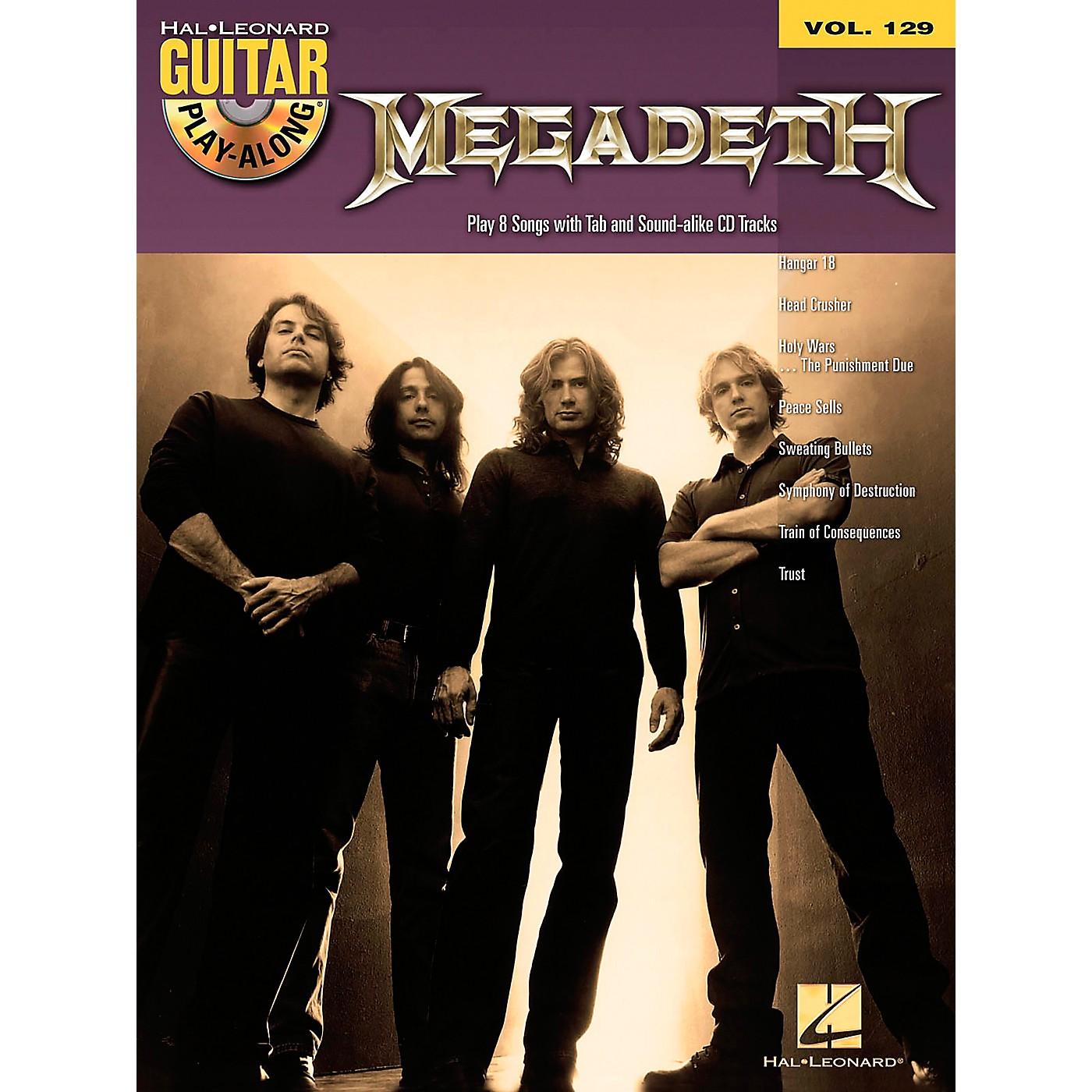 Hal Leonard Megadeth - Guitar Play-Along Volume 129 (Book/CD) thumbnail