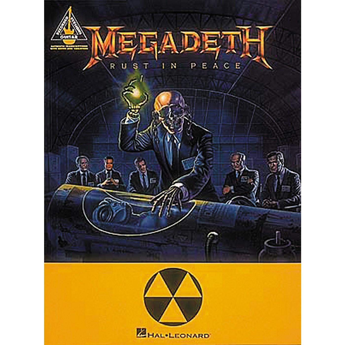 Hal Leonard Megadeth Rust In Peace Guitar Tab Songbook thumbnail