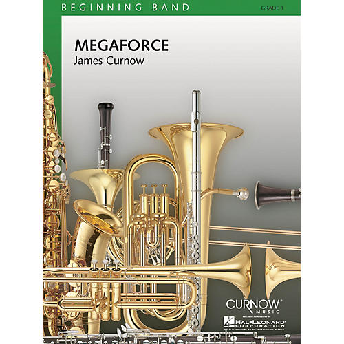 Curnow Music Megaforce (Grade 1 - Score Only) Concert Band Level 1 Composed by James Curnow thumbnail