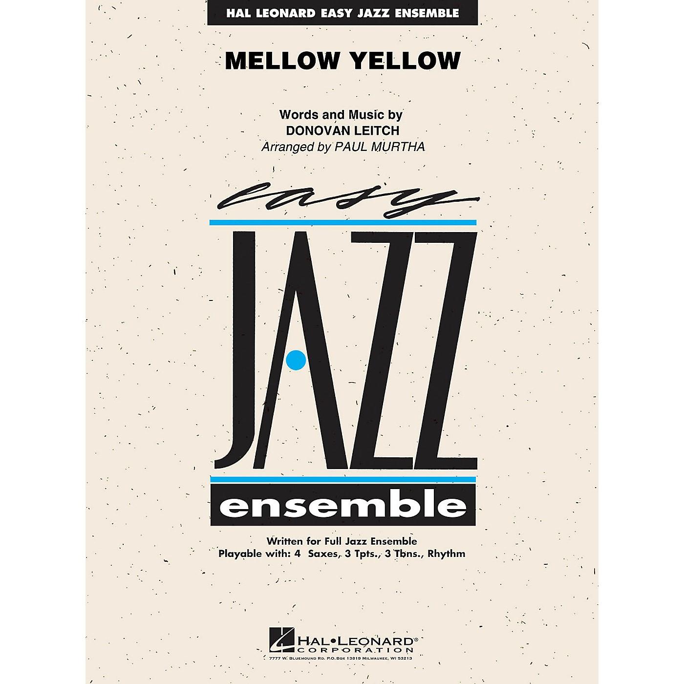 Hal Leonard Mellow Yellow Jazz Band Level 2 Arranged by Paul Murtha thumbnail
