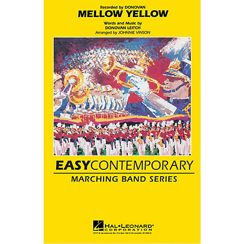 Hal Leonard Mellow Yellow Marching Band Level 2-3 Arranged by Johnnie Vinson thumbnail