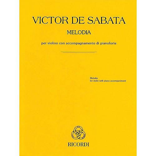 Ricordi Melodia - Violin and Piano by Victor de Sabata thumbnail
