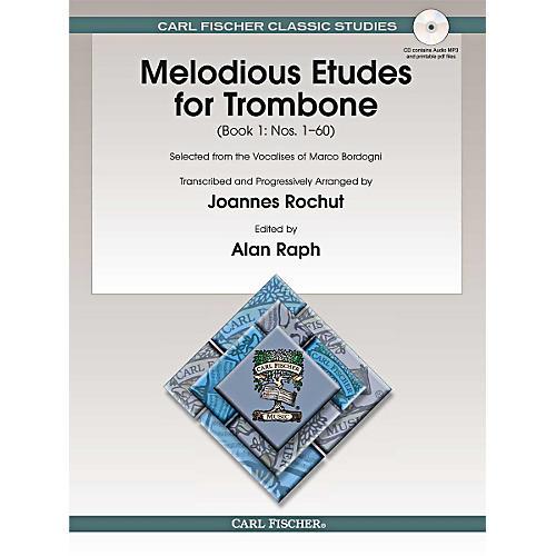 Carl Fischer Melodious Etudes for Trombone (Book/Online Audio) - Joannes Rochut, Book 1 thumbnail
