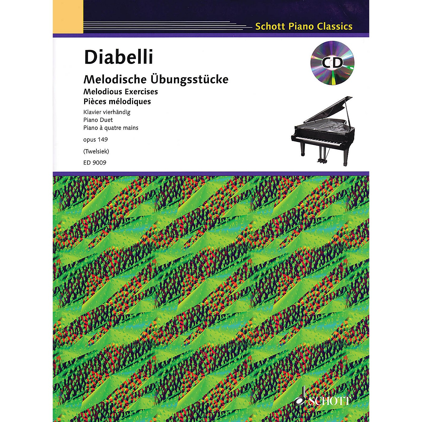Schott Melodious Exercises, Op. 149 (With a CD of Piano Accompaniments) Schott Series Softcover with CD thumbnail