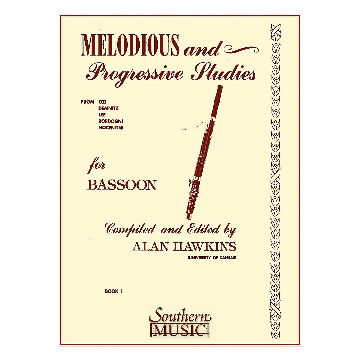 Southern Melodious and Progressive Studies, Book 1 (Bassoon) Southern Music Series by Alan Hawkins thumbnail