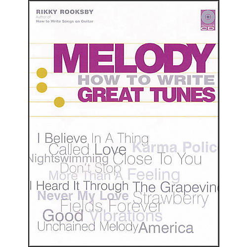Backbeat Books Melody - How to Write Great Tunes (Book and CD Package)-thumbnail