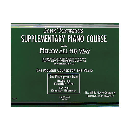 Willis Music Melody All The Way - Preparatory Book Early Elementary Piano thumbnail